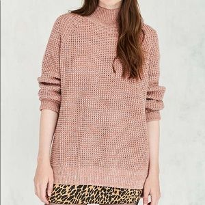BDG Urban Outfitters Pink mock neck sweater